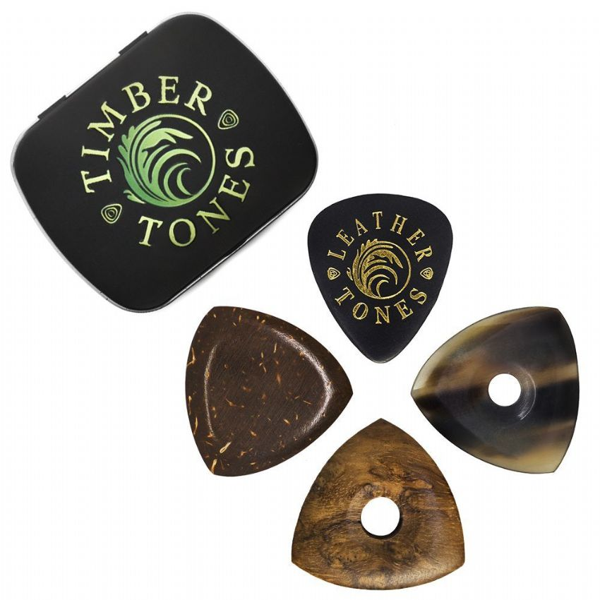 Timber Tones - Tin of 4 Bass Picks | Timber Tones
